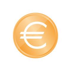 Bronze Münze - Euro-Zeichen dünn