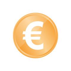 Bronze Münze - Euro-Zeichen dick