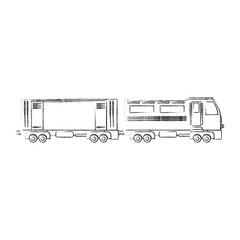 train icon over white background vector illustration