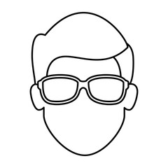 Man cartoon face icon vector illustration graphic design