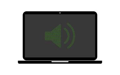 Hacker Laptop Lautsprecher