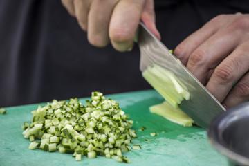 Fine chopped cucumber