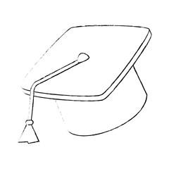 Graduation student hat icoc vector illustration graphic design