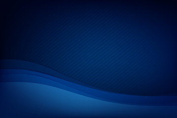 Abstract deep blue background curve and overlap layer with basic simply geometry illustration 005