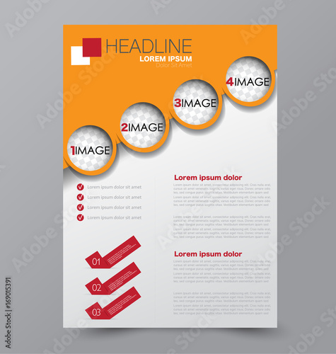 business brochure template flyer design annual report cover