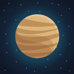 color space landscape background with view venus planet vector illustration
