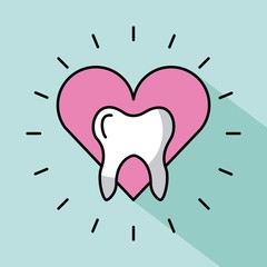 Tooth image cartoon icon vector illustration design graphic