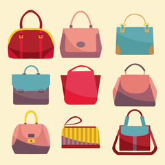 Fashion Bags set icon.
