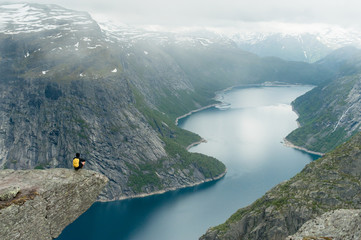 Wall Murals Dark grey Trolltunga in Norway is fabulous beauty