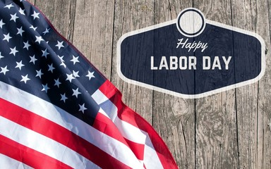 Happy Labor Day.  American flag.