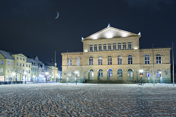 Wintry view of Theater