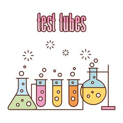 Images scientific laboratory test tubes icon vector illustration design graphic