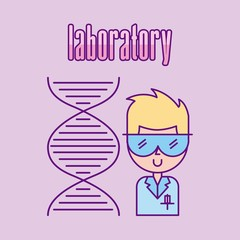 laboratory scientific examinations icon vector illustration design graphic