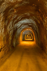 Foto op Canvas Tunnel Tunnel in Resort Rafailovici - Montenegro