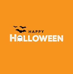 Happy Halloween Text, Vector Illustration