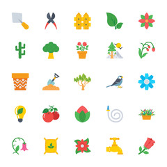 Nature and Ecology Flat Icons 2