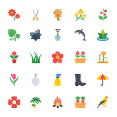 Nature and Ecology Flat Icons 4