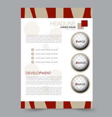 Business brochure template. Flyer design. Annual report cover. Booklet for education, advertisement, presentation, magazine page. a4 size vector illustration.