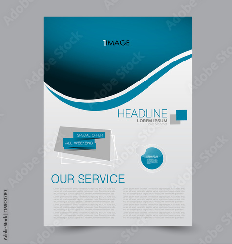 flyer template abstract brochure background business corporate