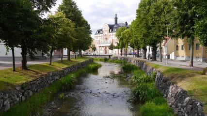 Historischer Stadtkern in Södersköping,
