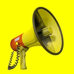 Megaphone cropped at yellow