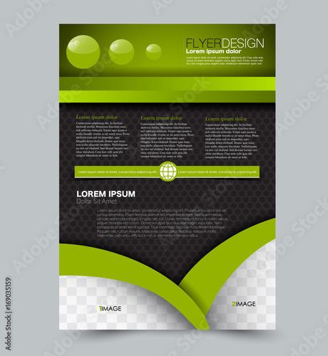green and black flyer vector design template set business brochure