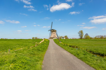 A historic windmill in Nieuwe Wetering the Netherlands