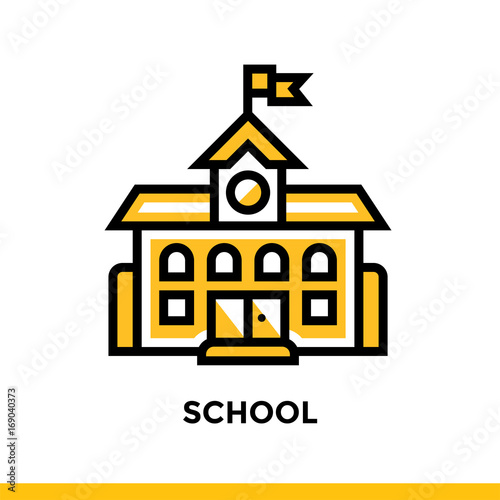 Linear icon for school, education  Pictogram in outline