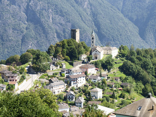 village with church of Santo Stefano