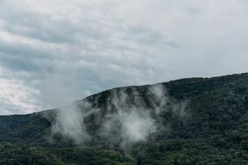 Mountains landscape, dark toned filte