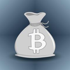 Gray Bitcoin Money Bag