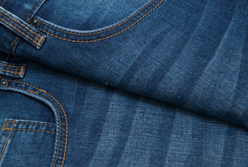 Denim grunge texture. Jeans close-up