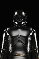 Astronaut Death black spacesuit