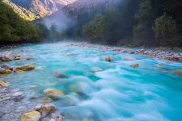 Photo sur Toile Riviere Soca river, Slovenia