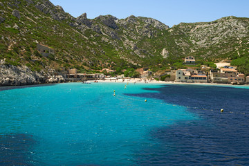 Coastal landscape between Cassis and Marseille, Calanques