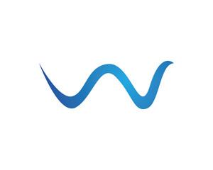 W wave Logo Symbol
