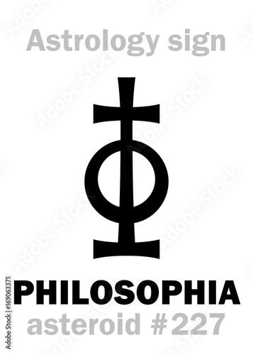 Astrology Alphabet: PHILOSOPHIA, asteroid #227