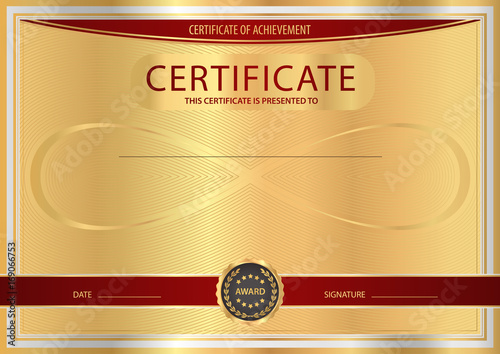 Certificate Diploma Of Completion Abstract Design Template With