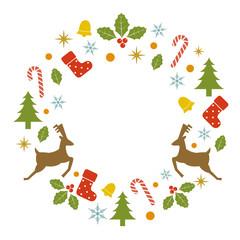 クリスマスモチーフのリース