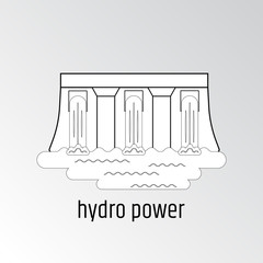 Vector illustration of hydro energy