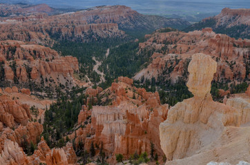 rock hoodoo on the edge of Bryce Canyon Upper Inspiration Point, Bryce Canyon National Park, Utah, United States
