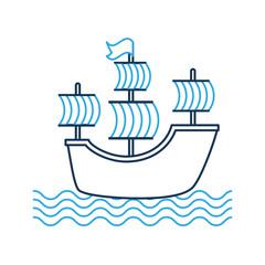 antique sailboat isolated icon vector illustration design