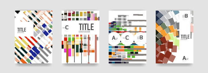 Set of brochure cover templates