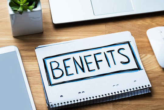 Social Security Benefits Concept In Notepad