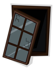 Wooden window with poor condition