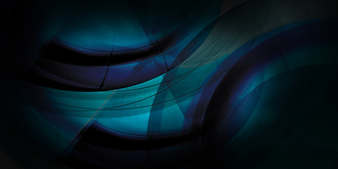 Dark blue abstract curves background use able for various design