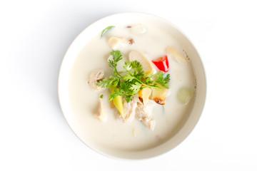 Chicken in coconut milk soup