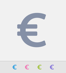 Euro Sign - Granite Icons. A professional, pixel-perfect icon designed on a 32x32 pixel grid and redesigned on a 16x16 pixel grid for very small sizes.