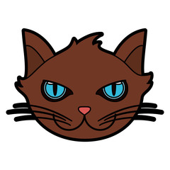 cat house pet icon image vector illustration design