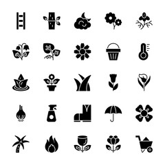 Nature and Ecology Solid Icons 3